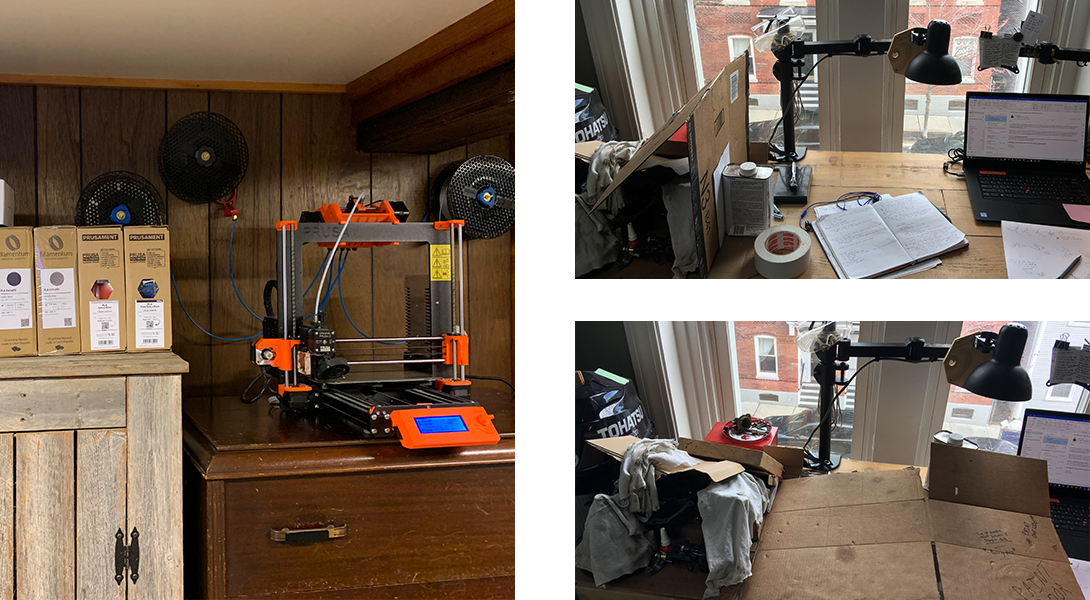 3d printer and changing workspace