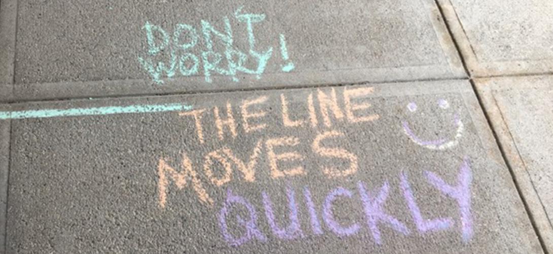 Covid19 Grocery Store Design - Sidewalk Chalk 2