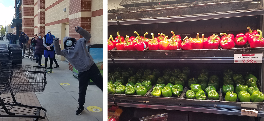 Covid19 Grocery Store Design - photo bomb and peppers