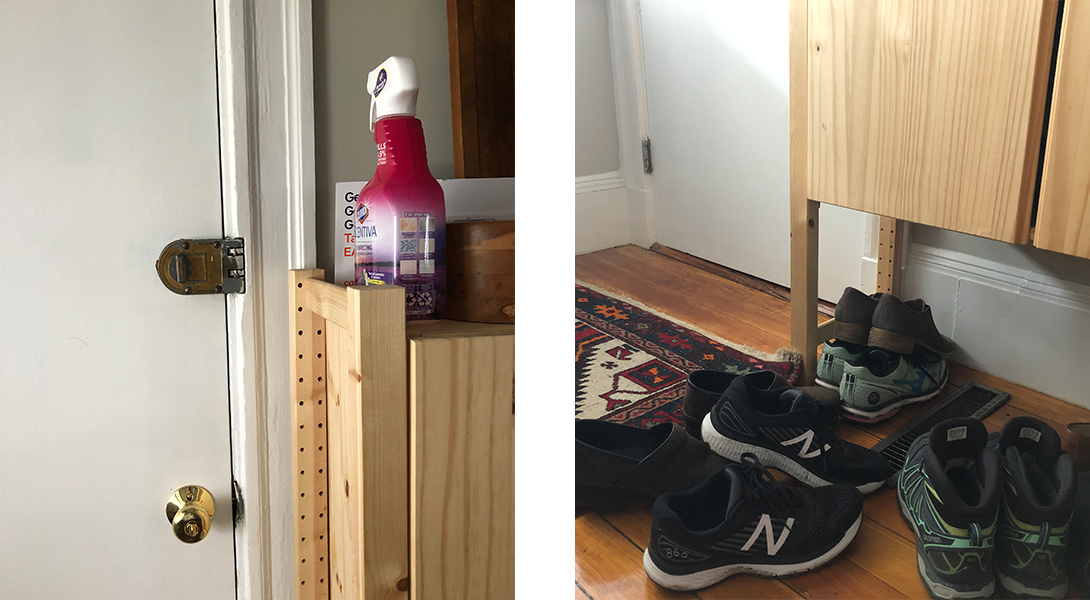 visual cues spray and shoes